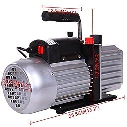 PanelTech 5 CFM Rotary Vane Deep Vacuum Pump 1/3HP HVAC AC Air Tool Freon R410A R134 R134A
