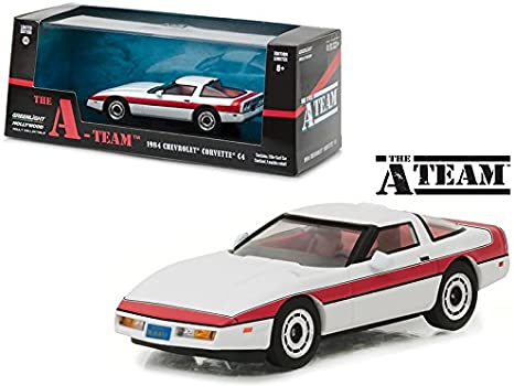 Amazon Com Maisto 1984 Chevrolet Corvette C4 The A Team 1983 1987 Tv Series 1 43 Model Car By Greenlight Home Kitchen