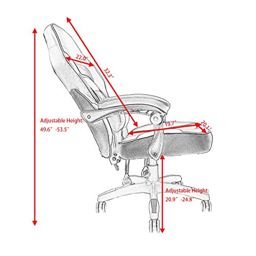 51%2BNd38zhQL - Giantex-Gaming-Chair-Race-High-Back-Reclining-Chair-Office-Swivel-Computer-Task-Desk-Chair
