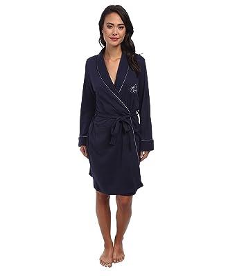 af9e59238115b Lauren by Ralph Lauren Womens Hartford Lounge Short Shawl Collar Robe at  Amazon Women s Clothing store