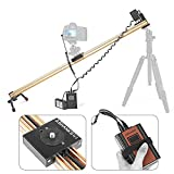ASHANKS G1 29''/75CM Motorized Timelapse Slider Aluminum Dslr Camera Sliders Dolly Track Rail Electric Control Delay Adjustable Stepper Motor for Professional Time lapse Photograpy