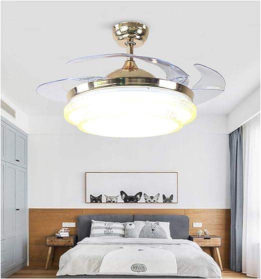 NIUZIMU Ventiladores de Techo Regulables con Luces y luz de ...