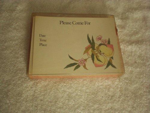 Vintage The Metropolitan Museum of Art Invitations & Envelopes - Auspicious Peach Design from A Famille Rose Porcelain Vase Museum's Collection - Very Rare