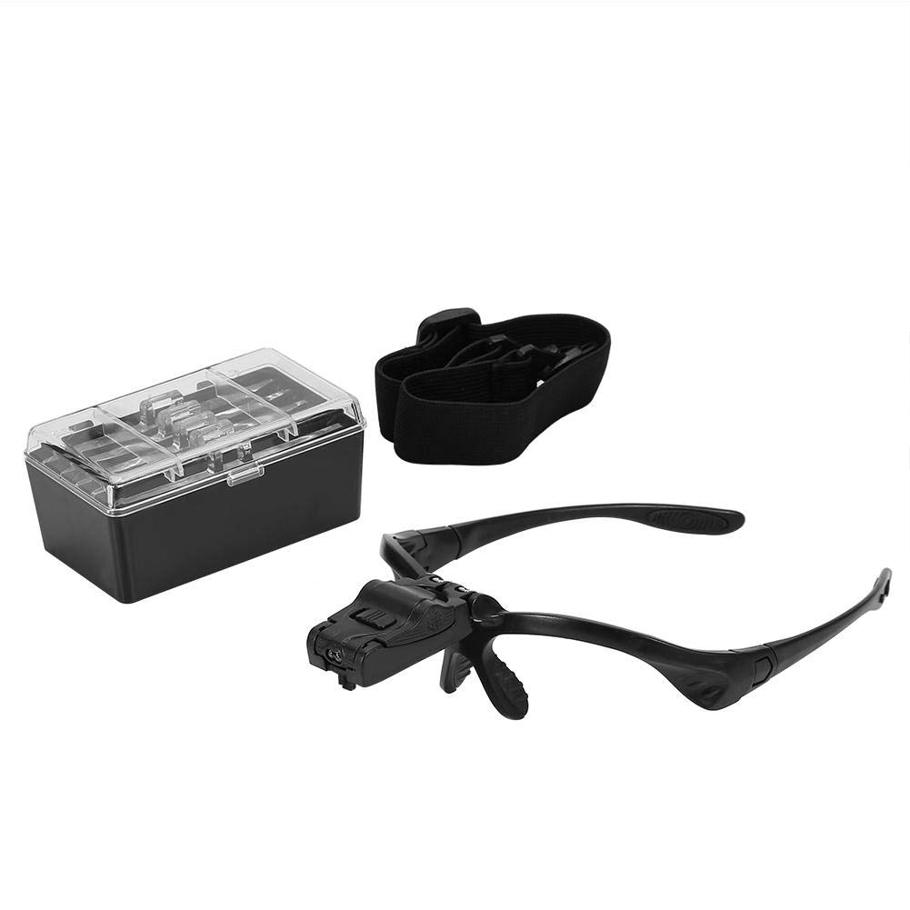 Headband Magnifier-a Headband Magnifier with a Wide Field of View and Adjustable Lens Angle with 5 Magnifiers