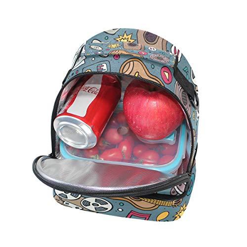 con escuela pincnic correa para ajustable la para Bolsa FOLPPLY térmica hombro de almuerzo el para q67nIS
