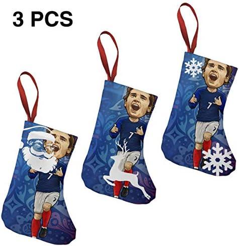クリスマスの日の靴下 (ソックス3個)クリスマスデコレーションソックス Griezmann クリスマス、ハロウィン 家庭用、ショッピングモール用、お祝いの雰囲気を加える 人気を高める、販売、プロモーション、年次式