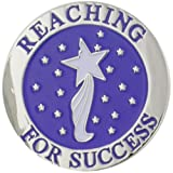 PinMart's Reaching For Success 7/8'' Round Lapel Pin