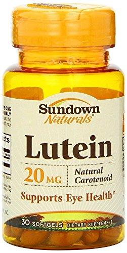 Sundown Naturals Lutein 20 mg, 30 Softgels (Pack of 4) by Sundown Naturals