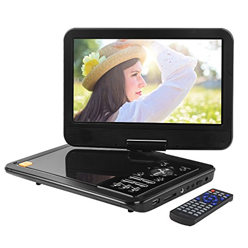Great Features Of APEMAN 10.5 inch Portable DVD Player Video Mini Car CD Player for kids and Traveli...
