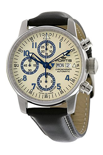 fortis-flieger-classic-automatic-chronograph-steel-mens-watch-beige-dial-day-date-5972092-l01