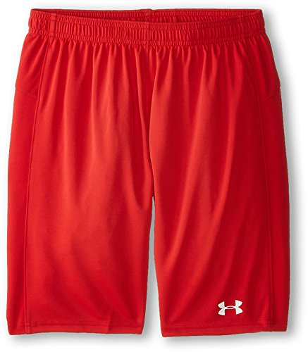 Under Armour Boys' Golazo Soccer Shorts, Red/White, Youth Large (Soccer Red Shorts)