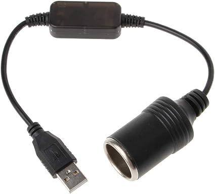 Cable adaptador USB macho a hembra para encendedor de cigarrillos de 12 V SALliang