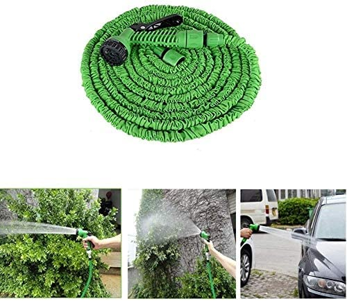 FANPING Faucet Expandable hose Garden Hose, Flexible Extended Magic Hose, Telescopic Folding Garden Hose, Easy to Store, Green Magic hose (Size : 37.5m),Size:30m (Size : 15m)