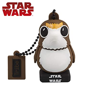 Tribe Star Wars 8 Pendrive - Memoria USB Flash Drive 2.0, de Goma, de 32 GB con Llavero, diseño PORG