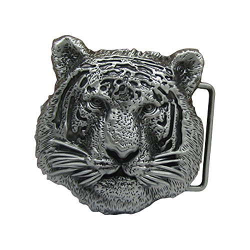 E-Clover Cool Tiger Head Metal Country Belt Buckle for Men (Tiger Buckle)