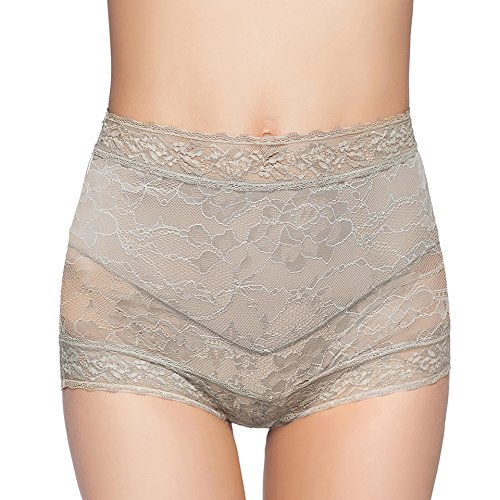 Aubree High Waist Panties Premium Soft Stretch Lace Comfortable Sexy Underwear for (Stretch Lace Boyshorts Panties)