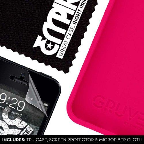 EMPIRE GRUVE Full Protecteur TPU Case Étui Coque for Apple iPhone 5 / 5S - Magenta Pink Rosa (Films