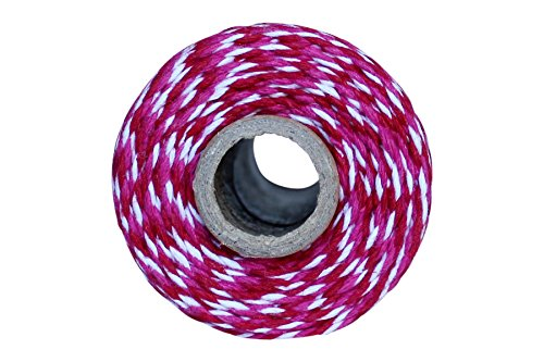Thick Bakers (Thick 12 Ply 100 Yard Bakers Twine (Red and Dark Pink))