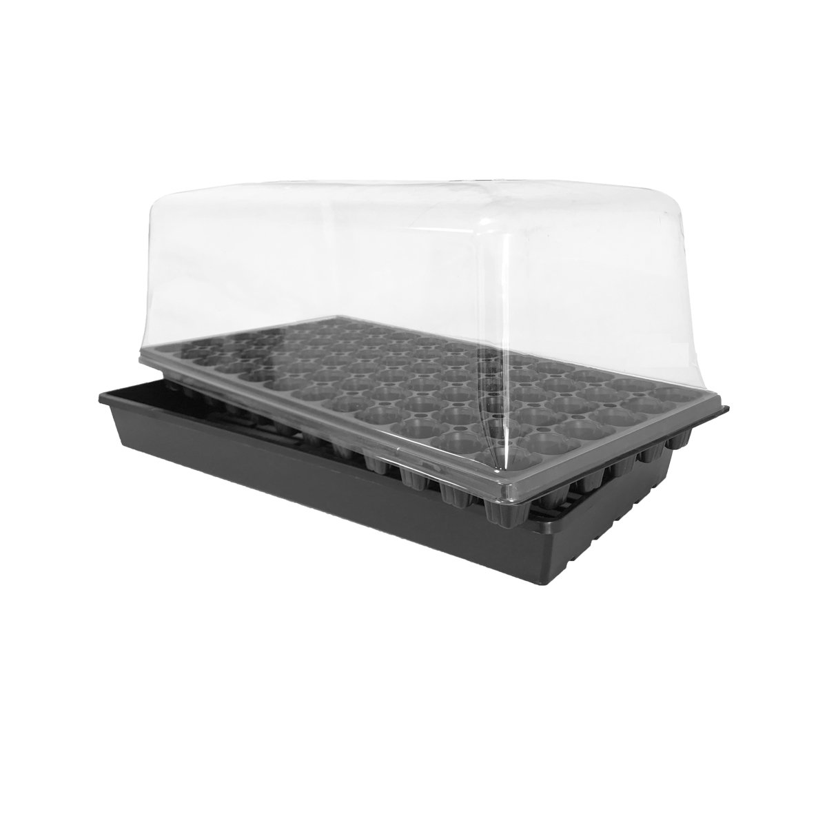 Oppolite 2-Pack 10' x 20' Seedling Starter Kit Tray(7' Humidity Dome+72 cell Tray-Flat Tray)Propagation Kit for Indoor seedling Plant Growing (2-Pack)