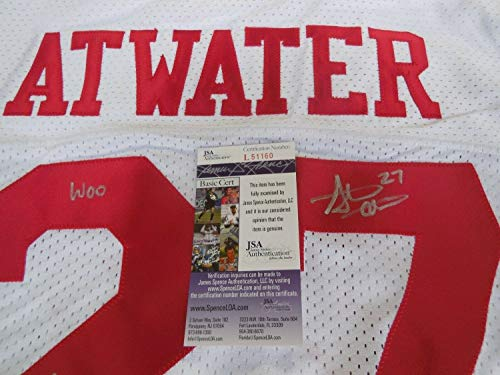 Steve Atwater Autographed Signed Memorabilia Arkansas Razorbacks White Jersey Woo Pig Souie - JSA Authentic