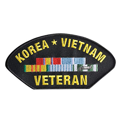 (Medals of America Korea Vietnam Veteran Hat Patch One Size)