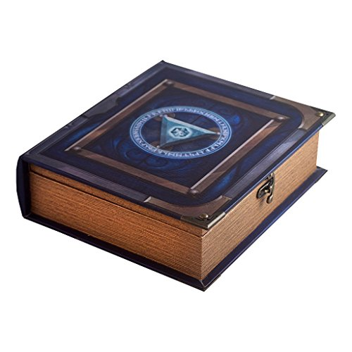 Grimoire Deck Box, Arbiter | Large Wooden Spellbook Style Fabric Lined Deck or Cube Box for MTG, Yugioh, and Other TCG | 1000+ Card Capacity
