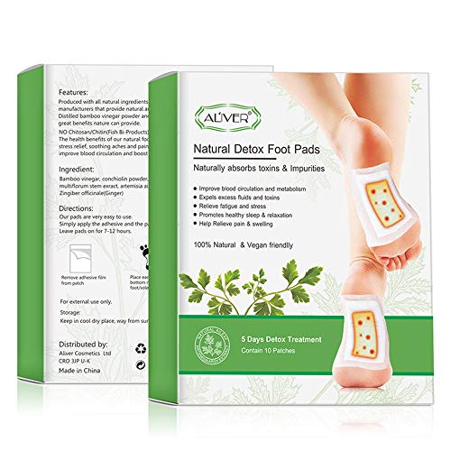 Detox Foot Plaster Pads, Foot Care Pads with Adhesive Films, Foot Plasters for Health Anti-Stress Pain and Stress Relief…