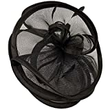 Feathers 3 Tier Layer 2 Tone Headband Fascinator Millinery Cocktail Hat Solid Black