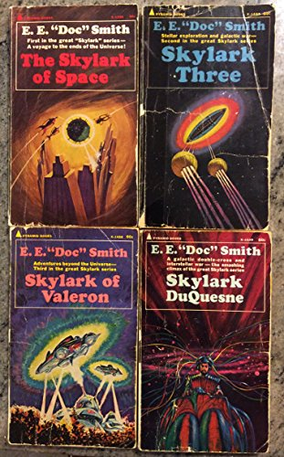 Skylark Novel Series (4 Book Set) -The Skylark of Space (X-1350), Skylark Three (X-1459), Skylark of Valeron (X-1458), Skylark Duquesne (X-1539)