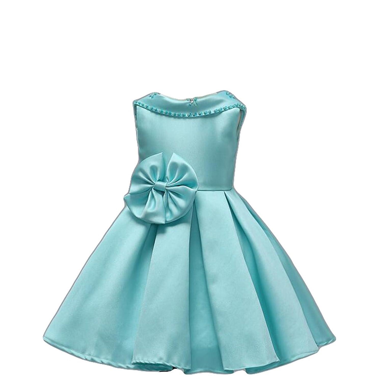 Amazon.com: GURNALL Flower Girls Dresses Beaded Bow Princess Dress ...