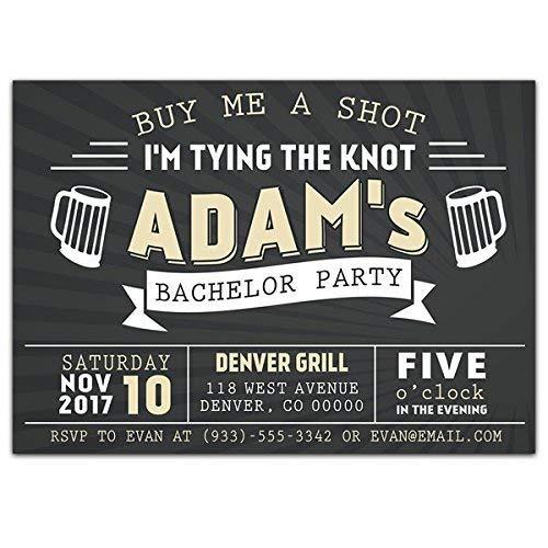 Amazon Com Buy Me A Shot Bachelor Party Invitations Handmade