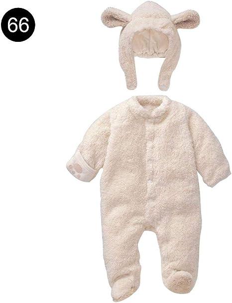 Ropa unisex para bebé, pelele grueso de animales, mono de invierno ...
