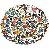 Fruit Bowl Serving Salad Centerpiece - Yair Emanuel LARGE BOWL LASER CUT HAND PAINTING FLOWERS