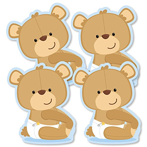 Baby Boy Teddy Bear - Decorations DIY Baby Shower Party Essentials - Set of 20 (Teddy Die Bear)