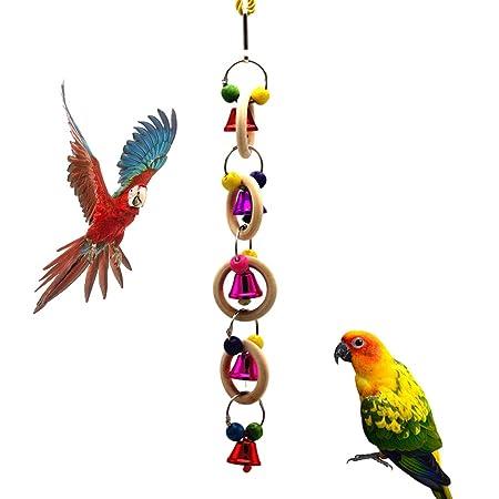 Lifet pájaros Juguetes de Madera, Campana pájaro Columpio Masticar ...