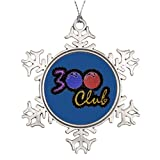 Valerie Personalised Christmas Tree Decoration 300 Club Perfect Game in Bowling Christmas Home Decorations 300