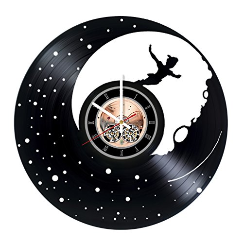 Peter Pan Wendy Tinkerbell Costumes (Peter Pan Film Vinyl Record Wall Clock - Get unique Nursery Room wall decor - Gift ideas for children, teens – Cartoon Unique Art Design)