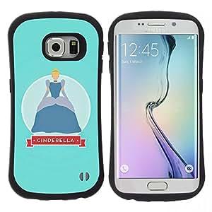 "Hypernova Slim Fit Dual Barniz Protector Caso Case Funda Para Samsung Galaxy S6 EDGE [Baby Blue Kids Niña""]"