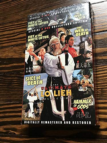 The Ultimate Shaw Brothers Lo Lieh Collection (Fist of the White Lotus/The Web of Death/Slice of Death/Hammer of Gods) Remastered DVD Set