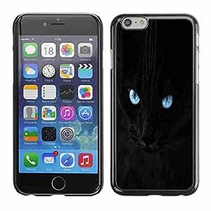 "Shell-Star ( Blue Eye Black Cat ) Fundas Cover Cubre Hard Case Cover para 4.7"" iPhone 6"