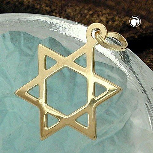 ASS en or 585Homme, Femme Pendentif étoile de David, étoile de David