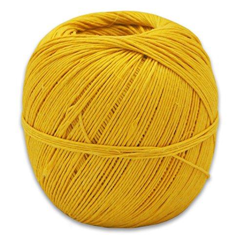 Hungarian Hemp - 400 Feet of 100% Hemp Hungarian Twine in Your Choice of Color (Yellow)