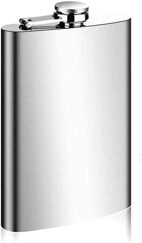 Invero Hip Flask 7oz Liquor Brandy Stainless Steel Pocket Drink Holder for Whisky Vodka and more 200ml