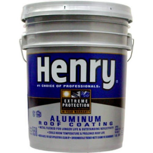 HENRY HE558178 Aluminum Roof Coating, 5 Gallon, Silver ()
