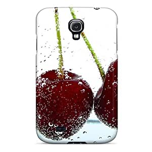 Galaxy S4 Case Cover - Slim Fit Tpu Protector Shock Absorbent Case (red Cherries)