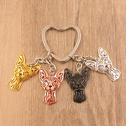 1 Pack Cat Animal Gold Silver Plated Keychains Pendant Women Bottle Opener Love Heart Key Label Excellent Popular Pocket Teenagers Bag Car Keyring
