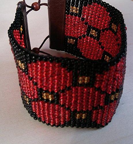 Handmade Circle Geometric Pattern Beaded Bracelet (J Renee Wrap)
