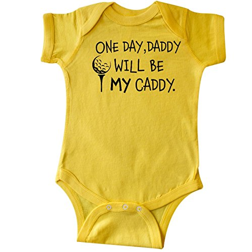 inktastic - One Day, Daddy Will be My Infant Creeper 6 Months Yellow 2c49a
