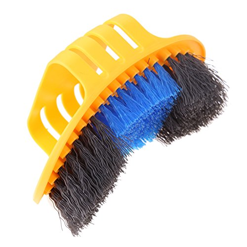 Floratek 6 PCS Portable Bicycle Cleaning Tool Kit Bicycle Chain Cleaner Mountain Road Bike Clean Machine Tire Brushes Coral Gloves by Floratek (Image #4)
