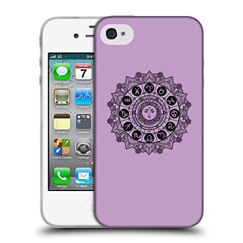 GoGoMobile Coque de Protection TPU Silicone Case pour // Q08610617 Zodiac 1 Bright Ube // Apple iPhone 4 4S 4G